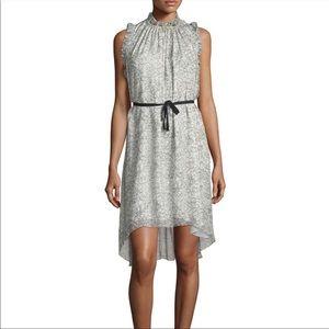 Elie Tahari Balere Silk Scribble Dress SZ M